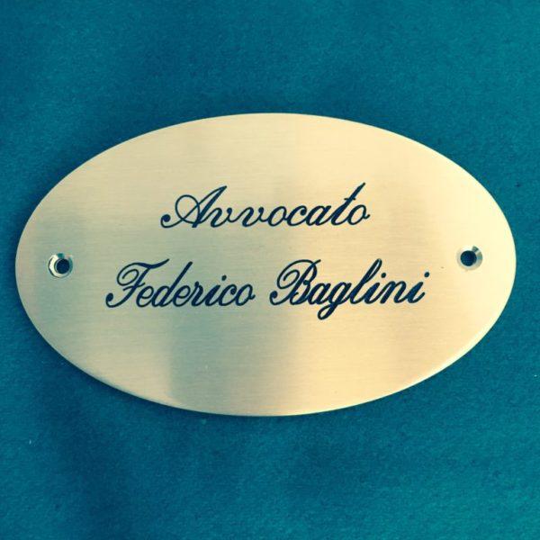 Targa avv. Federico Baglini